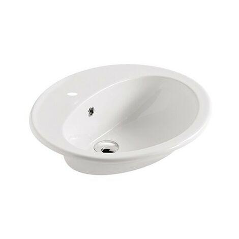 Lavabo empotrado 57x48 cm cerámica Galassia Eloise Mini   Blanco