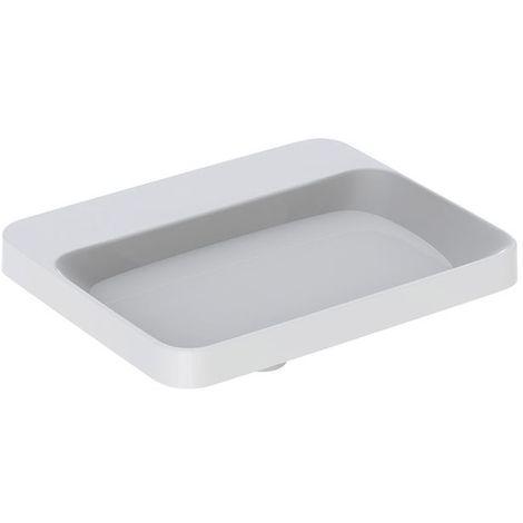 Lavabo empotrado Geberit VariForm rectangular, 550x450mm, con agujero para grifo, sin rebosadero, color: Blanco - 500.743.01.2