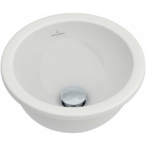 Lavabo empotrado Villeroy und Boch Loop & Friends 614034 340mm diámetro, blanco, color: Blanco - 61403401