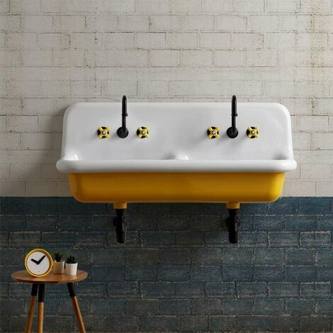 Lavabo en céramique émaillée 120 cm True Colors - Jaune