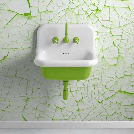 Lavabo en céramique émaillée 60 cm - True Colors - Vert