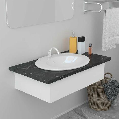 Lavabo encastrado de cerámica blanco 51x45,5x19,5 cm