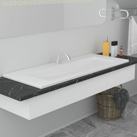 vidaXL Lavabo 50x50x12,3 cm Fonte Minérale Lave-Mains Vasque Salle de Bain