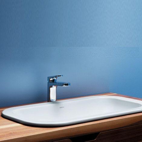 Lavabo Encastré En Céramique 50 Cm Glaze Azzurra Ceramica Blanc
