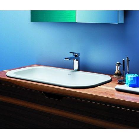 Lavabo encastré en céramique 69 cm Glaze azzurra ceramica   Blanc