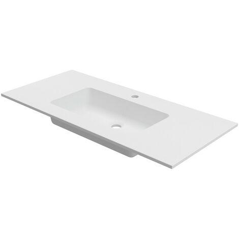 lavabo encimera cardiff solid surface 120x46 cm