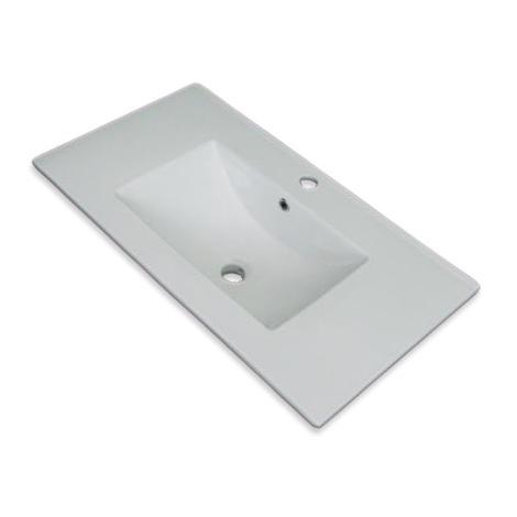 Lavabo Encimera Claudia - Porcelana - 80x36 cm