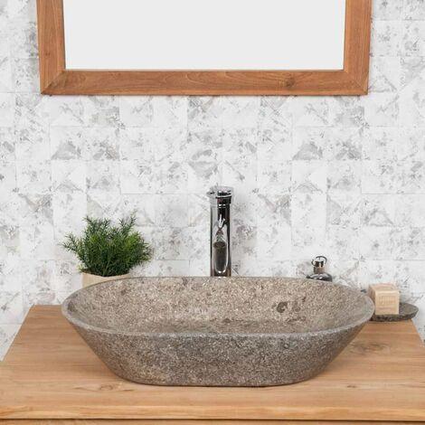 lavabo encimera cuarto de baño EVE gris 60 cm
