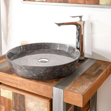 lavabo encimera de mármol para cuarto de baño Malo 45 negro