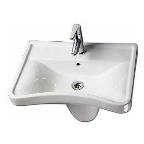 Lavabo ergonomique PMR - 46 cm - Blanc