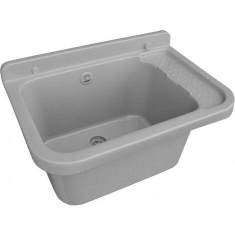 Lavabo évier vasque vasque 50 cm gris