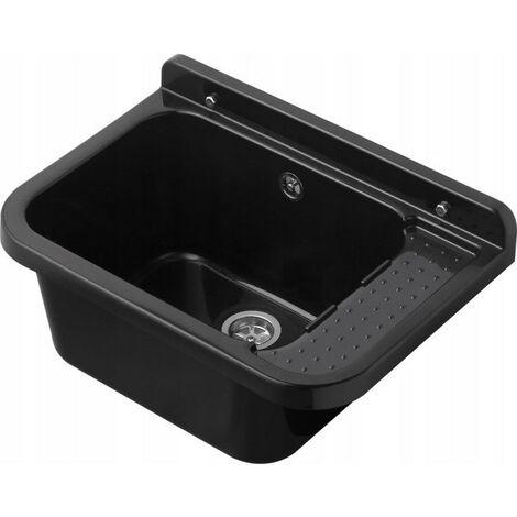 Lavabo évier vasque vasque 50cm noir