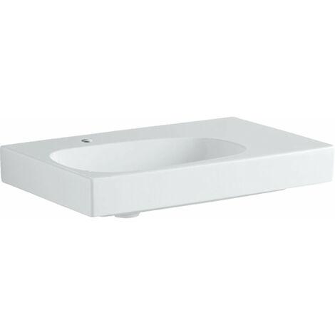 Lavabo Geberit Citterio 500545011, sin rebosadero, espacio de estantería a la derecha, 750x500mm, blanco con KeraTect - 500.545.01.1