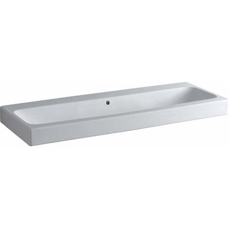 Lavabo Geberit iCon 120x48,5cm blanco, 124025 sin agujeros para grifos, color: Blanco, con KeraTect - 124025600