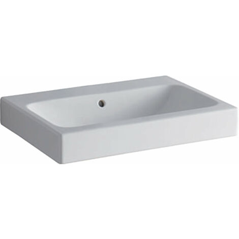Lavabo Geberit iCon 600x485mm blanco, 124063 sin agujero para grifo, color: Blanco - 124063000
