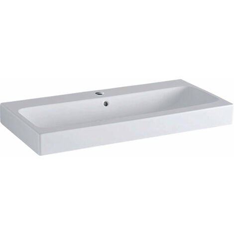 Lavabo Geberit iCon 90x48,5cm blanco, 124090, color: Blanco, con KeraTect - 124090600