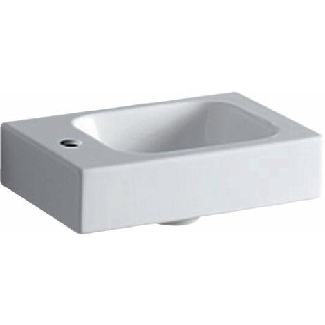 Lavabo Geberit iCon xs 38x28cm, blanco, con agujero para grifo a la izquierda, color: Blanco - 124836000