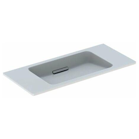 Lavabo Geberit One diseño flotante 500390, sin grifo, con rebosadero, 900x400mm, color: Blanco brillante - 500.390.01.3