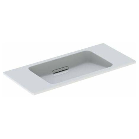 Lavabo Geberit One diseño flotante 500390, sin grifo, con rebosadero, 900x400mm, color: Cromo brillo - 500.390.01.1