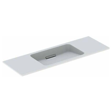 Lavabo Geberit One diseño flotante 500392, sin grifo, con rebosadero, 1200x400mm, color: Cromado cepillado - 500.392.01.2