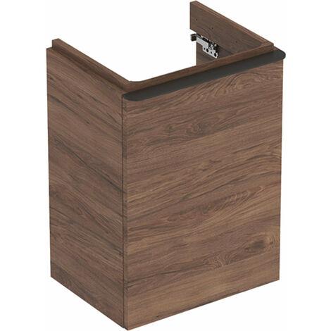 Lavabo Geberit Smyle Square Lavabo lavamanos, 500350, 442x617x356mm, con 1 puerta, apertura a la derecha, color: Estructura de madera de nogal / melamina - 500.350.JR.1