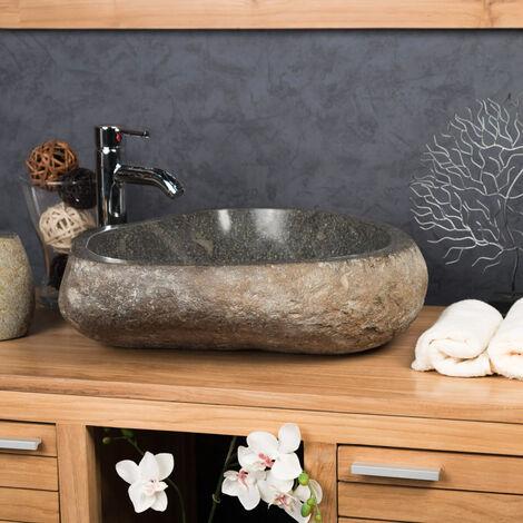Lavabo grande de piedra natural PIEDRA DE RÍO 50