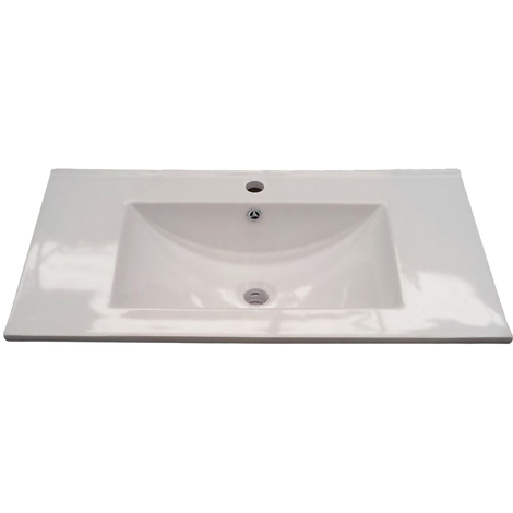 Lavabo in ceramica 82x46cm per bagno da incasso foro scarico 305910O ...