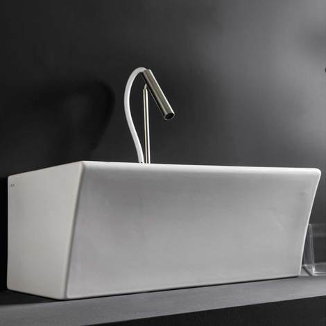 Lavabi Piccoli Per Bagno.Lavabo In Ceramica Per Installazione Sospesa 60x35 Utile Per Bagni