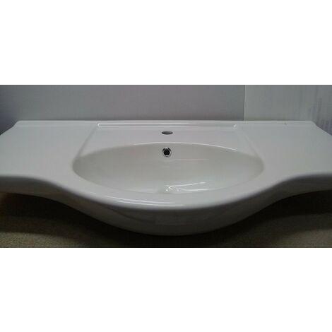 Mobile Base Lavabo Bagno.Lavabo Integrale Per Bagno In Ceramica Per Mobile Base Cm 105 Capaldo