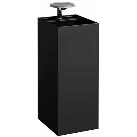 Lavabo Laufen Kartell, independiente, 2 agujeros para grifos, sin rebosadero, 375x435x900, color: Negro brillante - H8113310208151