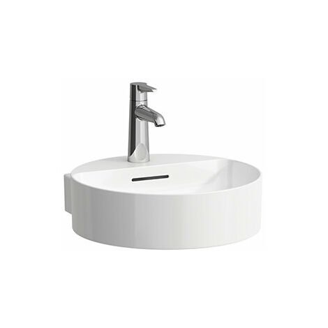 Lavabo Laufen VAL Lavabo manual, sin grifo, con rebosadero, 400x425, blanco, color: Blanco con LCC - H8112814001091