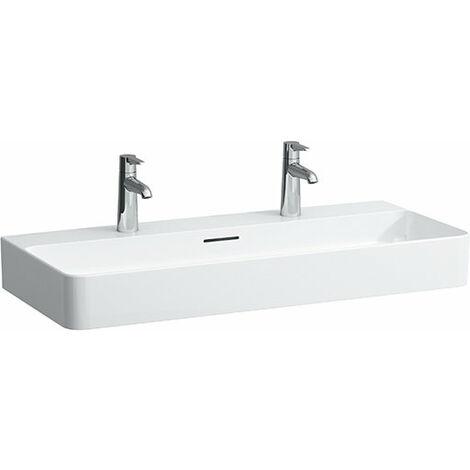 Lavabo Laufen VAL Muebles, 2 agujeros para grifos, con rebosadero, 950x420, blanco, color: Blanco - H8102870001071
