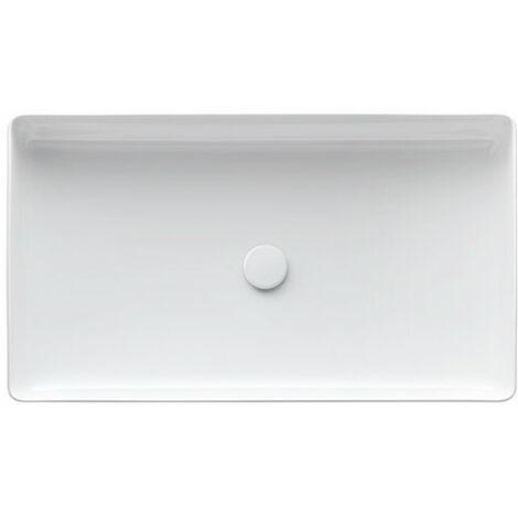 Lavabo Living Square Wash, sin grifo, sin rebosadero, 600x340,, color: Blanco - H8114340001121