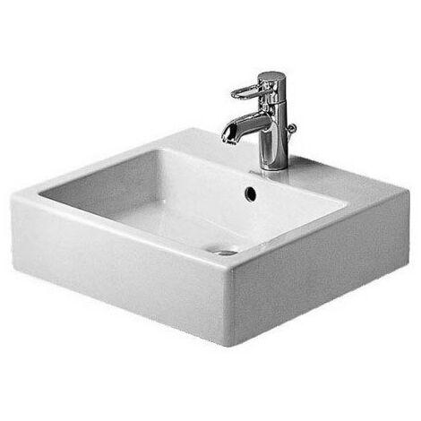Lavabo meulé Duravit Vero 500 mm - fixations incluses - Blanc