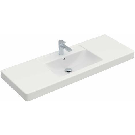 Lavabo mueble Villeroy y Boch Architectura 611813 1300x485mm, blanco, color: Cerámica Blanca - 611813R1