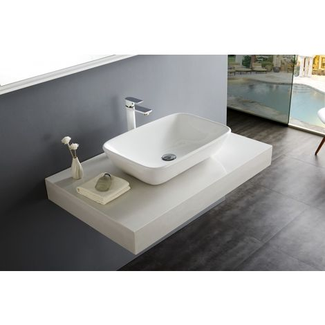 Lavabo para apoyar NT3155 - cerámica sanitaria - 58 x 38,5 cm