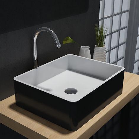 Lavabo para apoyar PB2012B de piedra sólida (Solid Stone) - 60 x 40 x15 cm - el color se puede seleccionar