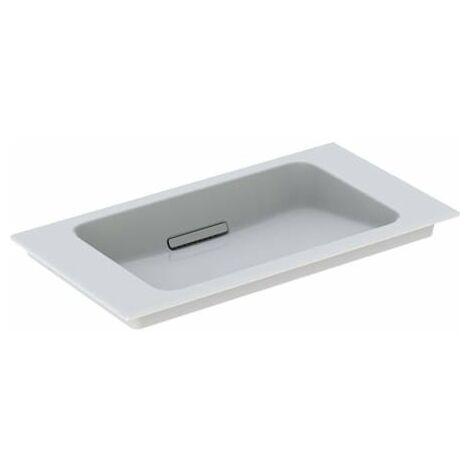 Lavabo para muebles Geberit One 500391, sin agujero para grifo, con rebosadero, 750x400mm, color: Blanco brillante - 500.391.01.3