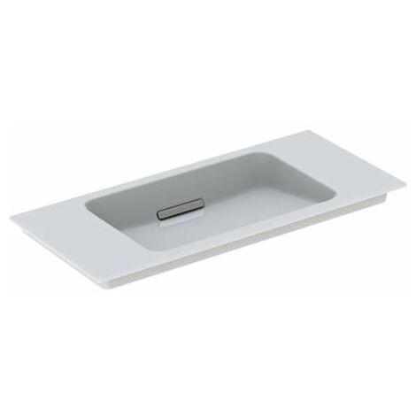 Lavabo para muebles Geberit One 500395, sin agujero para grifo, con rebosadero, 900x400mm, color: Cromado cepillado - 500.395.01.2
