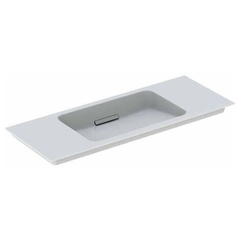 Lavabo para muebles Geberit One 500396, sin agujero para grifo, con rebosadero, 1050x400mm, color: Blanco brillante - 500.396.01.3