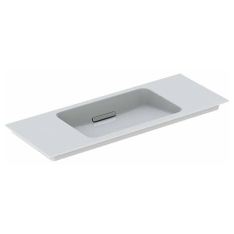 Lavabo para muebles Geberit One 500396, sin agujero para grifo, con rebosadero, 1050x400mm, color: Cromado cepillado - 500.396.01.2
