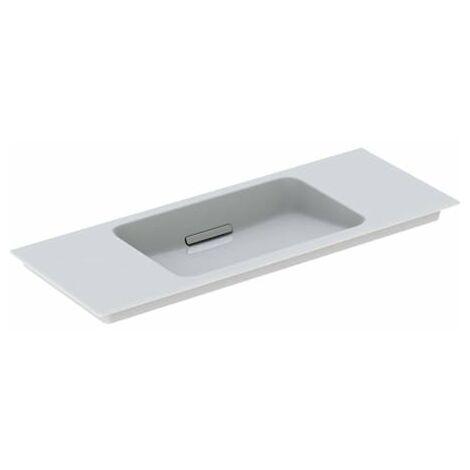 Lavabo para muebles Geberit One 500396, sin agujero para grifo, con rebosadero, 1050x400mm, color: Cromo brillo - 500.396.01.1