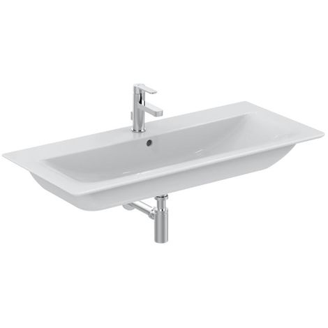 Lavabo para muebles Ideal Standard Connect Air 840mm E0279, color: Blanco con Ideal Plus - E0279MA
