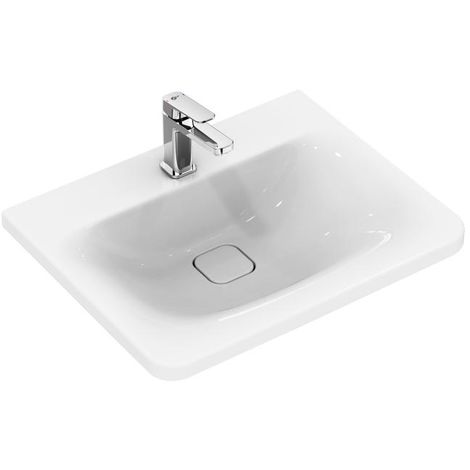 Lavabo para muebles Ideal Standard Tonic II, IdealFlow, 615mm, K0878, color: Blanco con Ideal Plus - K0878MA