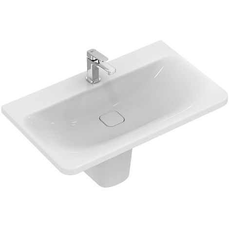 Lavabo para muebles Ideal Standard Tonic II, IdealFlow, 815mm, K0879, color: Blanco con Ideal Plus - K0879MA