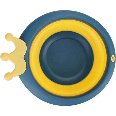 Lavabo Pliable pour Bébé Portable Bassin en Silicone Bassin de Lavage Polyvalent Enfant Lavabo Baignoire de Bain Bac à Douche Portatif Nouveau-Né Bac de Rangement Extérieur pour Maison Cuisine Voyage