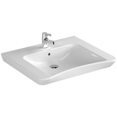 "main image of ""Lavabo PMR S20 Conforma avec Trop Plein 65X56cm Blanc - Vitra Bad - Blanc brillant"""