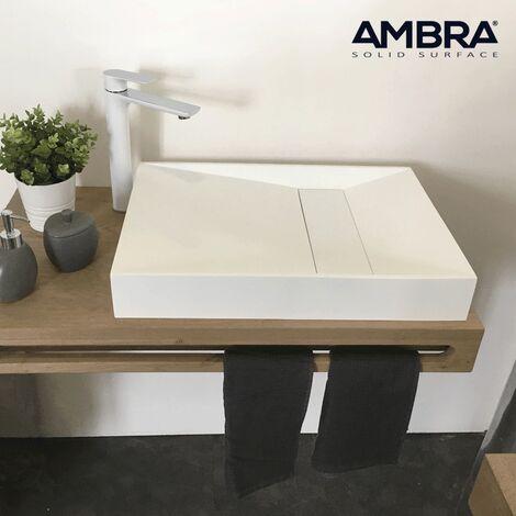 Lavabo rectangular 60 cm en Solid Surface – kera