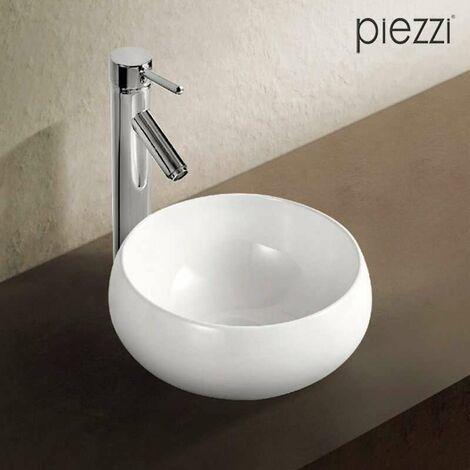 Lavabo redondo de cerámica blanca 32 cm - Boréal