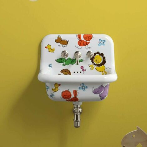 Lavabo rétro en céramique 60 cm -True Colors - Kids
